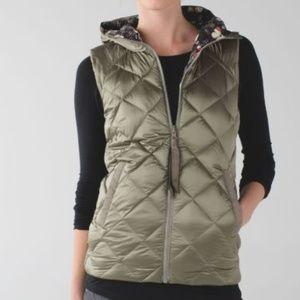 Lululemon Down Reversible Butterfly Fluffiest Vest